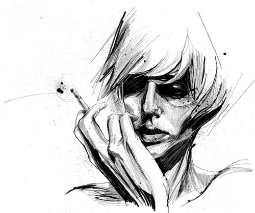 Black And White Sketches Art http://favim.com/image/190034/