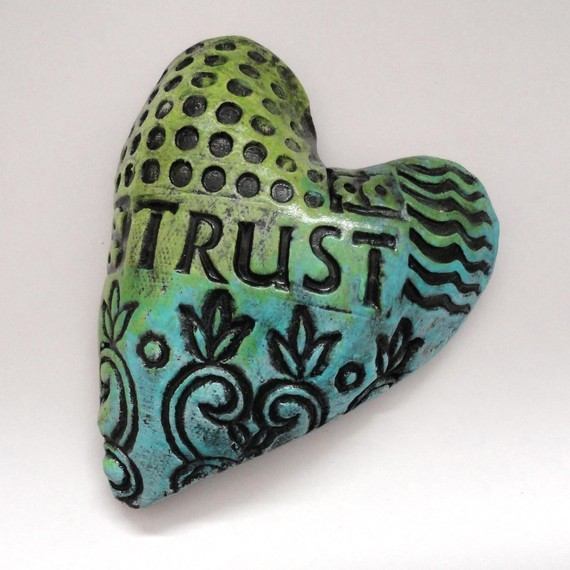 art, blue, craft, etsy, green, heart, trust