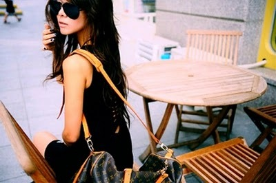 bag, beautiful, cafe, fashion, girl