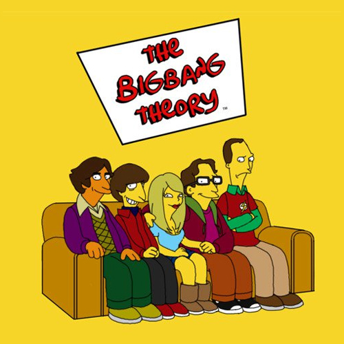 bang, big, big bang theory, geeks, howard, leonard, penny, raj, sheldon, the simpsons, theory