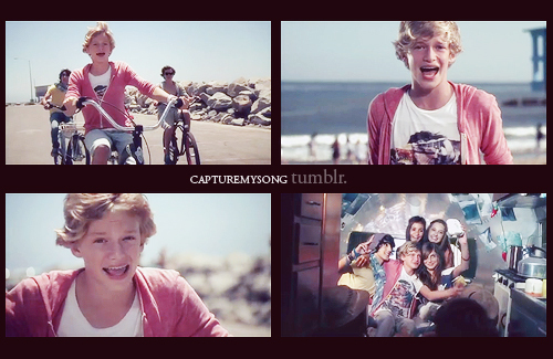 beach, bike, captures, cody simpson, cute, friends, iyiyi, kid, music, music video, screencaps, sea, sexy boy, video
