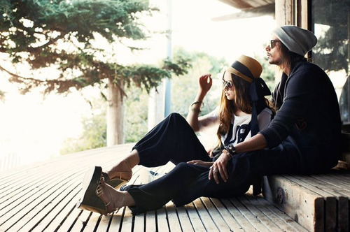 beanie, beautiful, boy, couple, cute, girl, hat, hats, hipster, hipsters, indie, love, tree, wedges