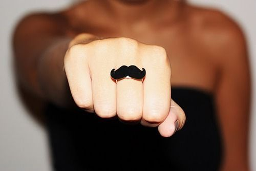black, hand, moustache, mustache, ring