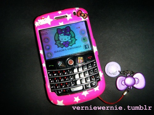 blackberry, bow, gadget, girlie, girly, hello kitty, phone, pink, pretty
