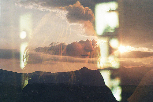 blonde, cloud, face, fenale, fine art, hair, lady, lips, mountains, nose, photo, photography, reflection, sun, window, woman