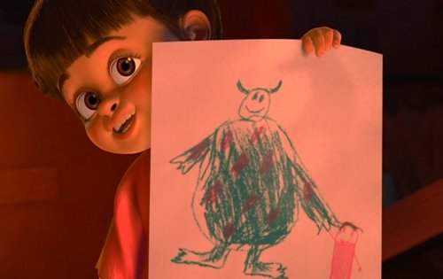 boo, cute, drawing, love, monsters, monsters inc