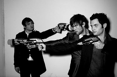 boys, chace crawford, chuck bass, dan humphrey, ed westwick, funny, gossip girl, guns, hot, nate archibald, penn badgley, pretty, sexy