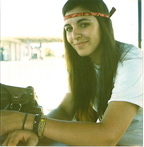 bracelets, brunette, faded, film, girl, headband, hippie, hippie era, hippie girl, hippy, hippy girl, long hair, model, nature, peace, photography, pretty, style, vintage