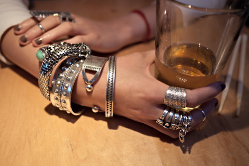 bracelets, cute, drink, fashion, girl, jac vanek, rings