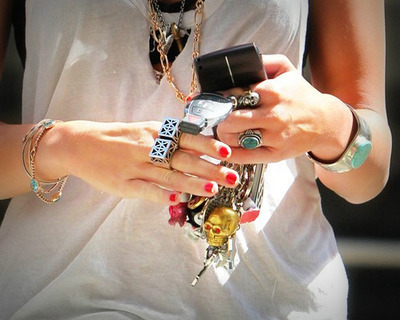 bracelets, fashion, nails, necklaces, phone