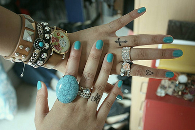 bracelets, fashion, nails, photography, rings