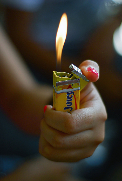 bubble, cigarette lighter, fire, funny, hands, i like, illusion, light, nail