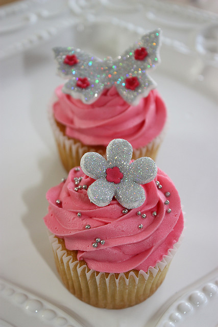 butterfly, cupcakes, cute, dessert, flower