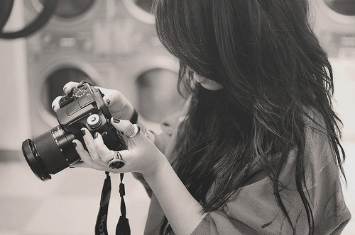 camera, girl, hair, rings, sepia, sony