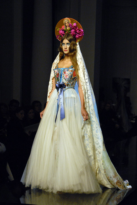catwalk, couture, dress, fashion, fashion show, galtier, gown, haute couture, jean-paul galtier, model, runway