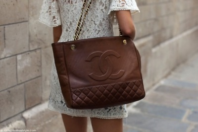 chanel, cute, dress, fashion, lace, purse, style, white
