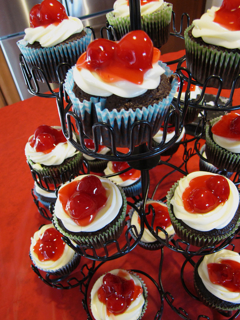 cheesecake, cherry, cherry chocolate, cupcake, cupcakes