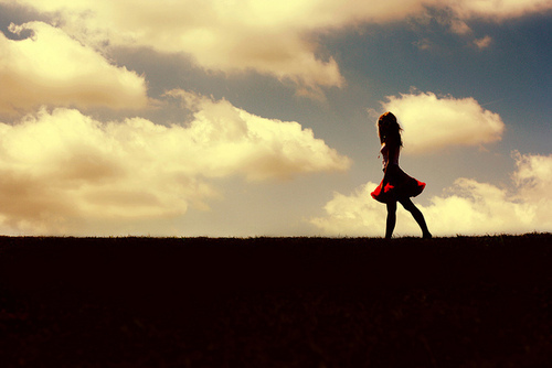 clouds, cute, dress, fashion, girl, glam, red, sky, style, sweet