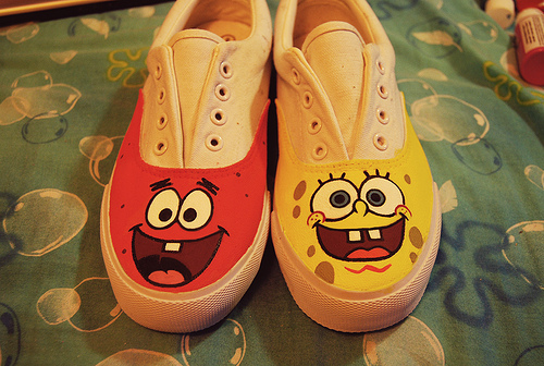 cute, patrick, patrick star, shoes, spongebob