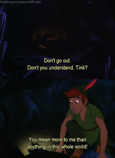 disney, love, movie, peter pan, quote