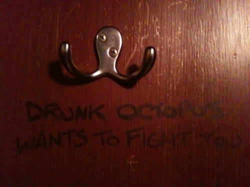 door, drunk, funny, hanger, octopus