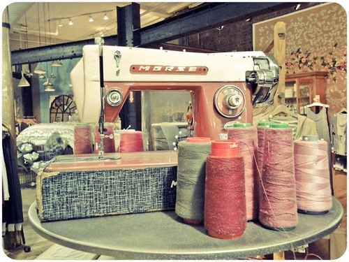pink, red, sewing machine, thread, type, vintage