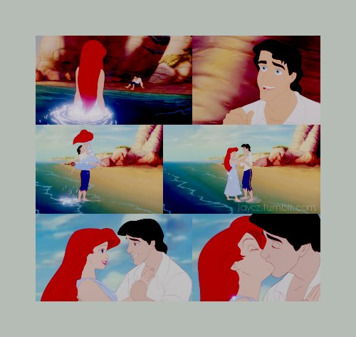adorable, ariel, beach, cartoon, collage