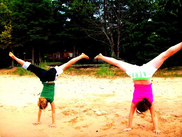 aero, beach, black, green, handstand