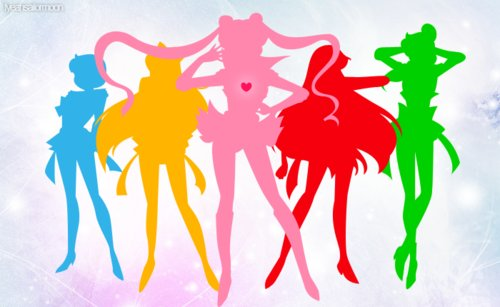 ami, anime, color, lita, mena, rye, sailor jupiter, sailor mars, sailor mercury, sailor moon, sailor venus, serena, usagi