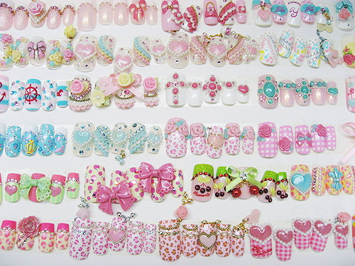 art, asian, cute, heart, i want, jewel, kawaii, kitch, leopard, nail, nails, pink, polka dot, ribbon, so fucking cute, sparkle