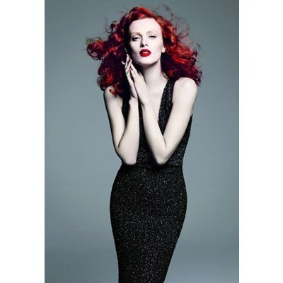 beauty, fashion, glamour, karen elson, model