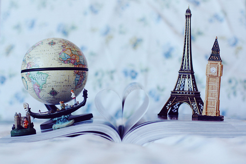 book, england, france, globe, heart, london, paris, venice, world