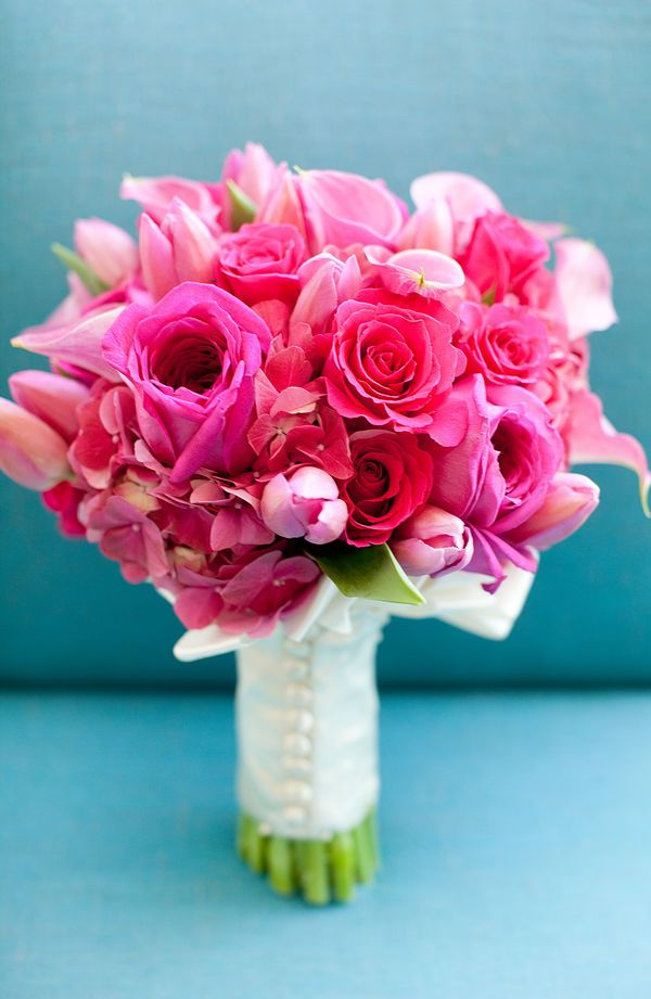 Bouquet  Cor De Rosa  Flowers  Pink  Wedding
