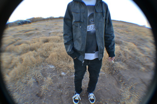 boy, cigerette, cigg, eye, fashion, fish, fish eye, fisheye, hot, leather, nature, nikes, shoes, skater, smoking