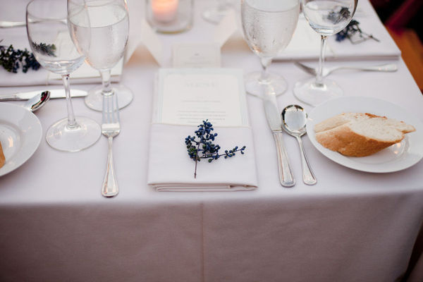 bread, glass, lavender, purple, table setting