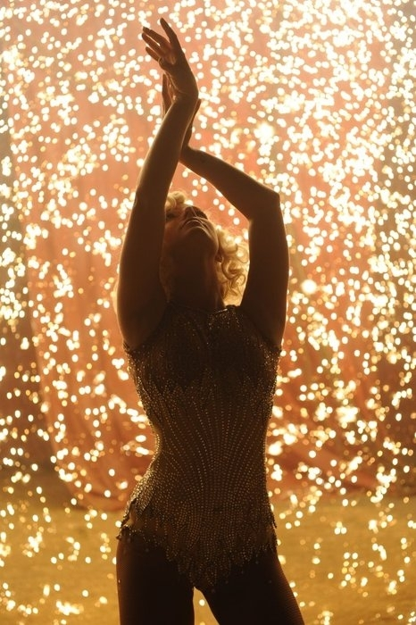 britney spears, circus, curls, dress, lights