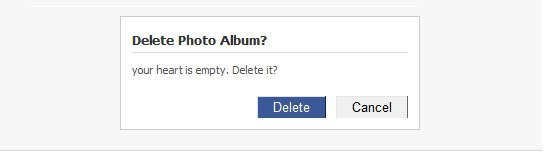 cancel, delete, empty heart, facebook, heart, heart is empty, love, your heart, your heart is empty