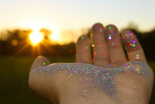 colours, dreams, glitter, hand, sparkle