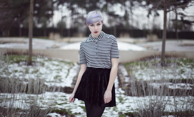 cute, died hair, fashion, girl, model