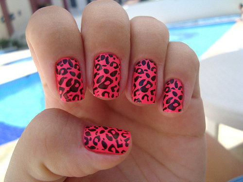 cute, fashion, hands, leopard, minx nails