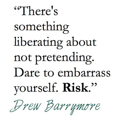 drew barrymore, risk, text