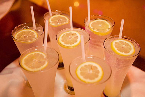 drinks, lemon, straws, yummy