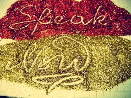 glitter, green, lyrics, music, pink, song, sparkle, speak now, taylor swift, text