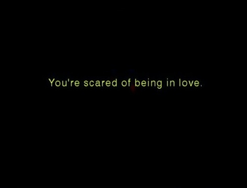 love, scared, text