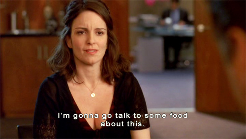 30 rock, food, movie quote, quote, text, tina fey, typography