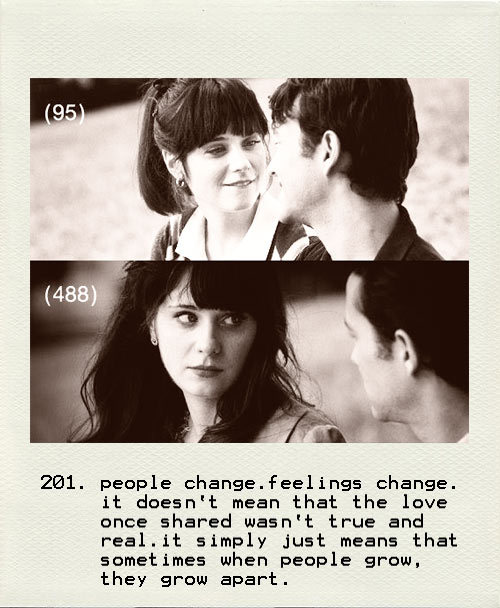 500 days of summer, apart, black, black and white, boy, feelings, girl, joseph gordon-levitt, love, white, zooey deschanel