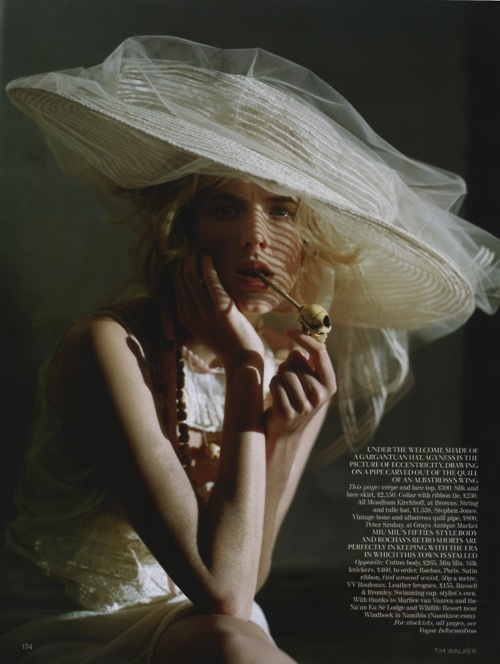 agyness deyn, editorial, hat, magazine, pipe