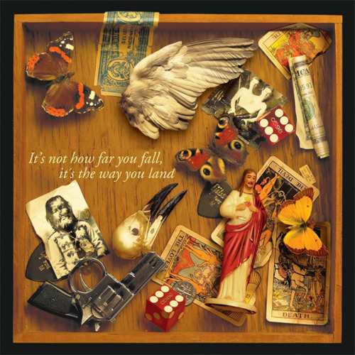 album, box, butterfly, card, cigar box, cover, death, dice, dollar, fall, gun, i left you lyrics, jesus, lyrics, old, photo, photography, pick, savers, song, soul, stuff, text, things, typography, vintage, way