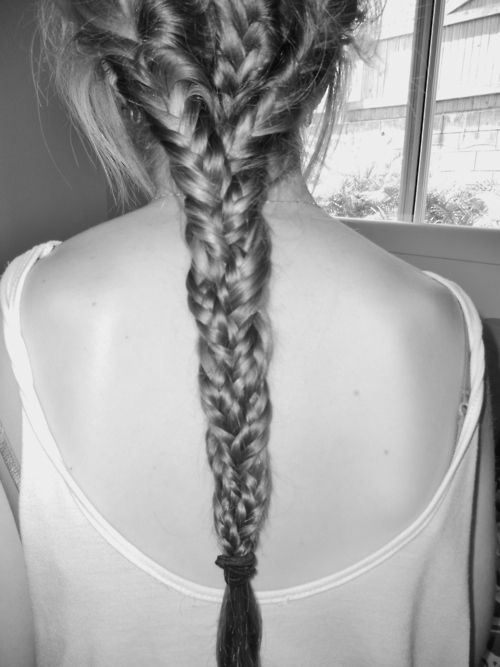 amazing, b&w, black and white, hair, long hair, plait