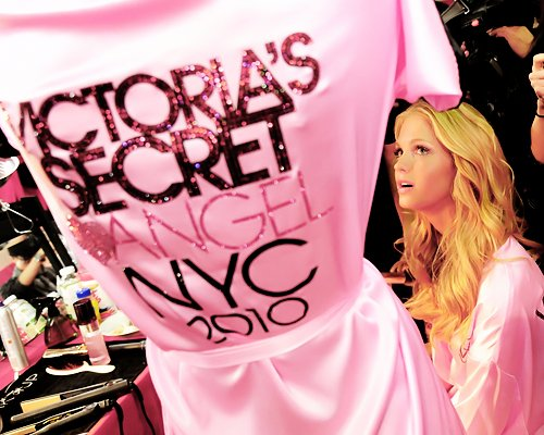 angel, blonde, girl, girls, pink, victoria secrets, victorias secret